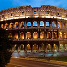Rome Colosseum at Dusk by printscapes
