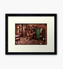 Doctor - Desk - The physician's office  Framed Print