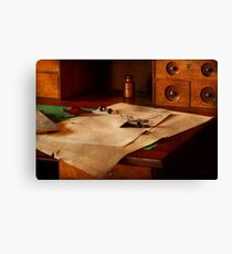 Lawyer - Optician - Reading the fine print  Canvas Print