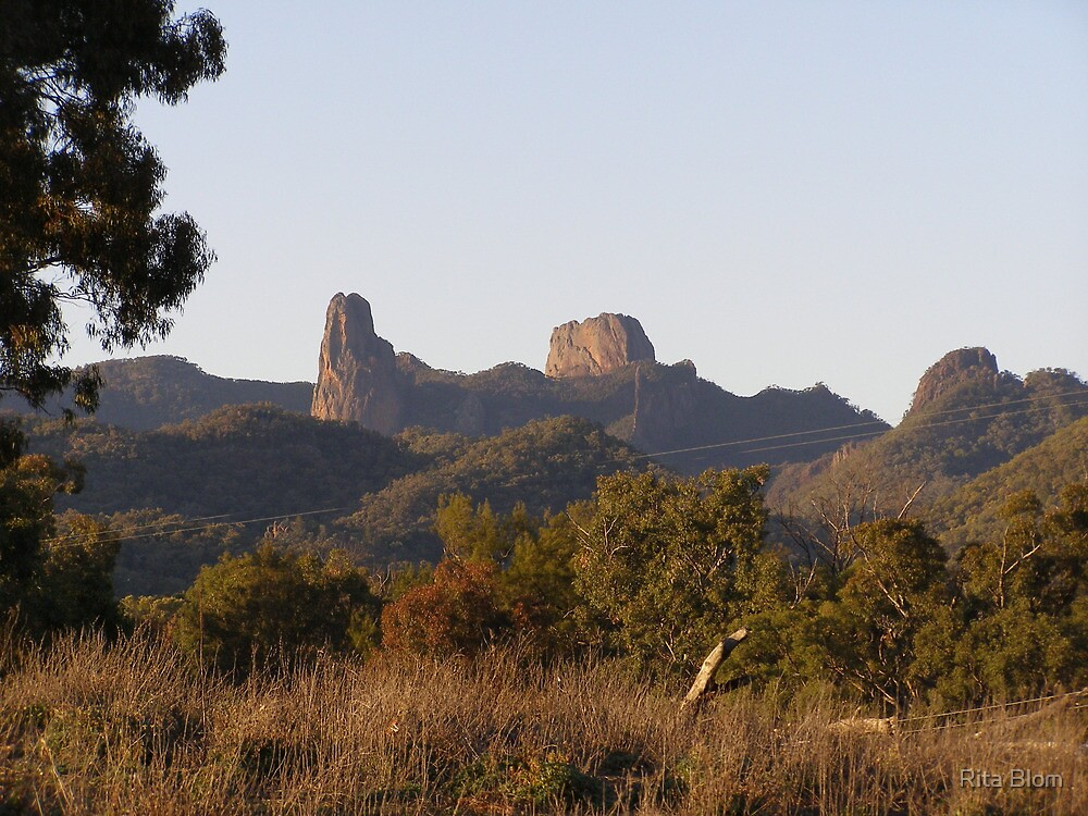 'Sunset Glow' On 'High Tops' Warrumbungle's N.P. N.S.W. Aust. by Rita Blom