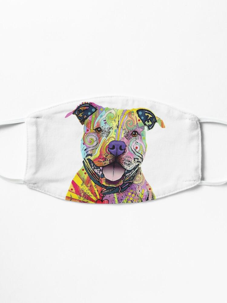Alternate view of PitBull T-Shirts Colourful Pit Bulls T-Shirt Mask