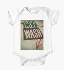 Vintage Car Wash Sign  One Piece - Short Sleeve
