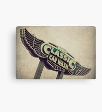 Flying Wings Classic Car Wash Sign Metal Print