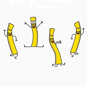 It's Fry Day! Dancing fries celebrating Friday! by Kokonuzz