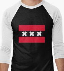 Flag of Amsterdam Men's Baseball ¾ T-Shirt