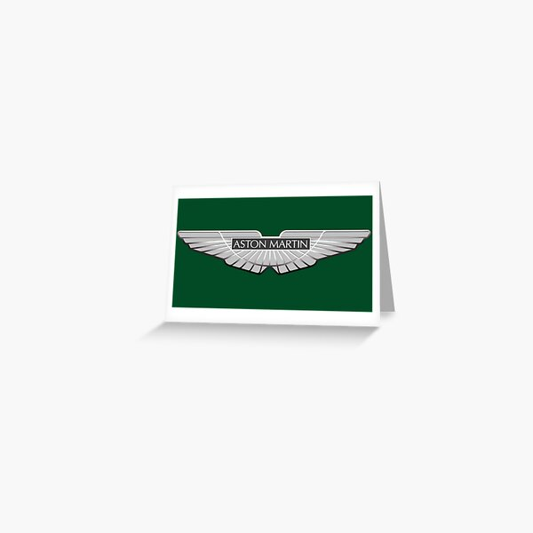 """Aston Martin British Racing Green III"" Greeting Card By"