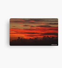 """ A Cornish Sunset"" Canvas Print"