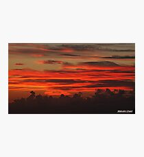 """ A Cornish Sunset"" Photographic Print"