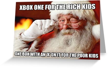 Quot Funny Santa Xbox One Meme Quot Greeting Cards By