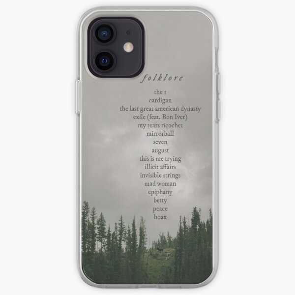 Folklore Tracklist iPhone Soft Case