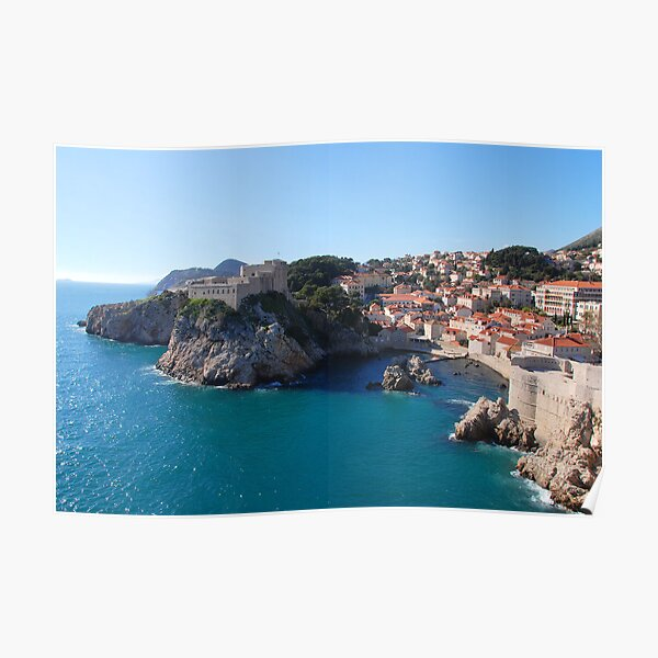 Dubrovnik from the city walls Poster