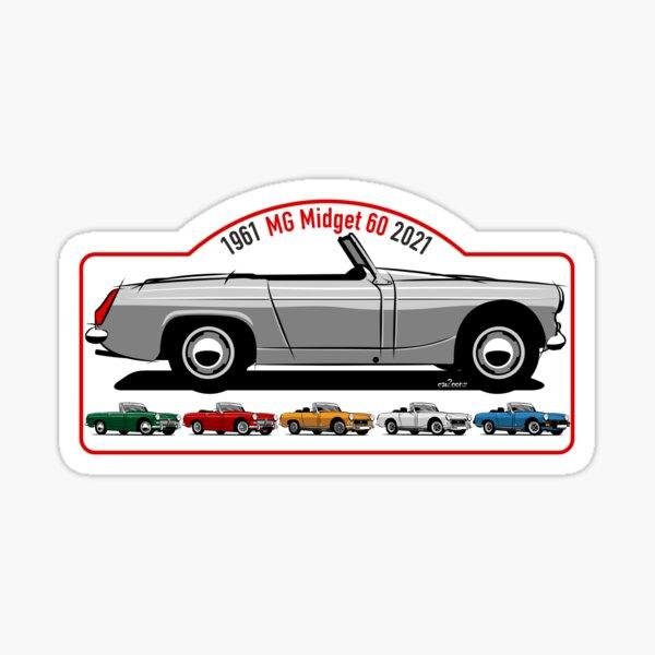 MG Midget 60 anniversary Sticker