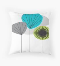 Mid Century Inspired Seed Pods Throw Pillow