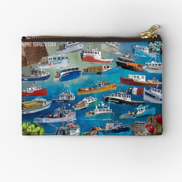 Fishing Boat Collage  Zipper Pouch