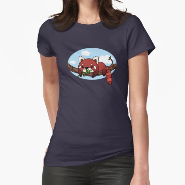 Panda rouge T-shirt moulant