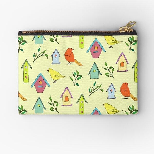 Birds and bird houses Zipper Pouch