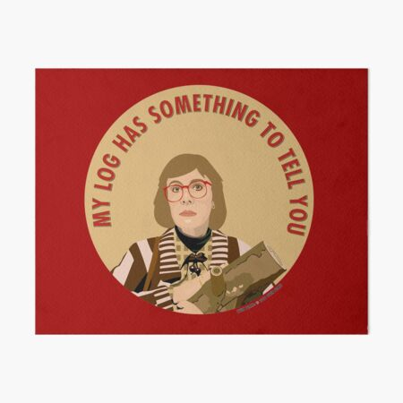 Twin Peaks Log Lady Art Board Print