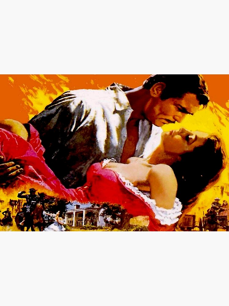GONE WITH THE WIND : Vintage Civil War Movie Advertising Print by posterbobs