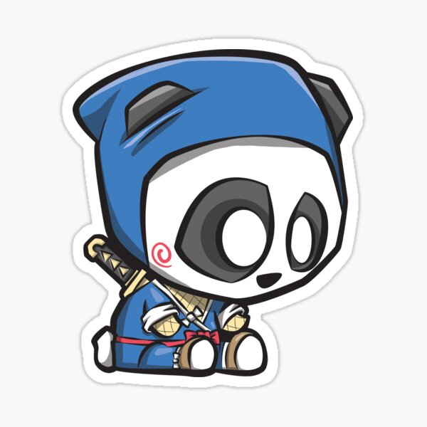Ninja Panda Sticker