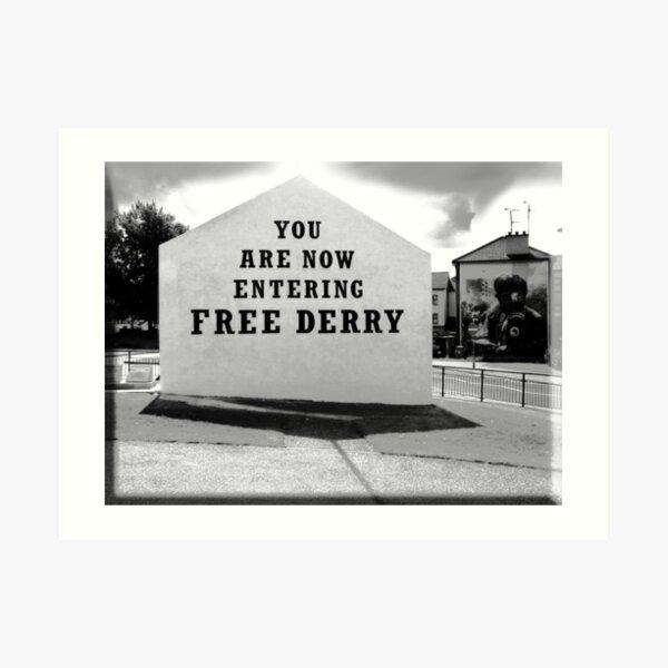 free derry wall Art Print