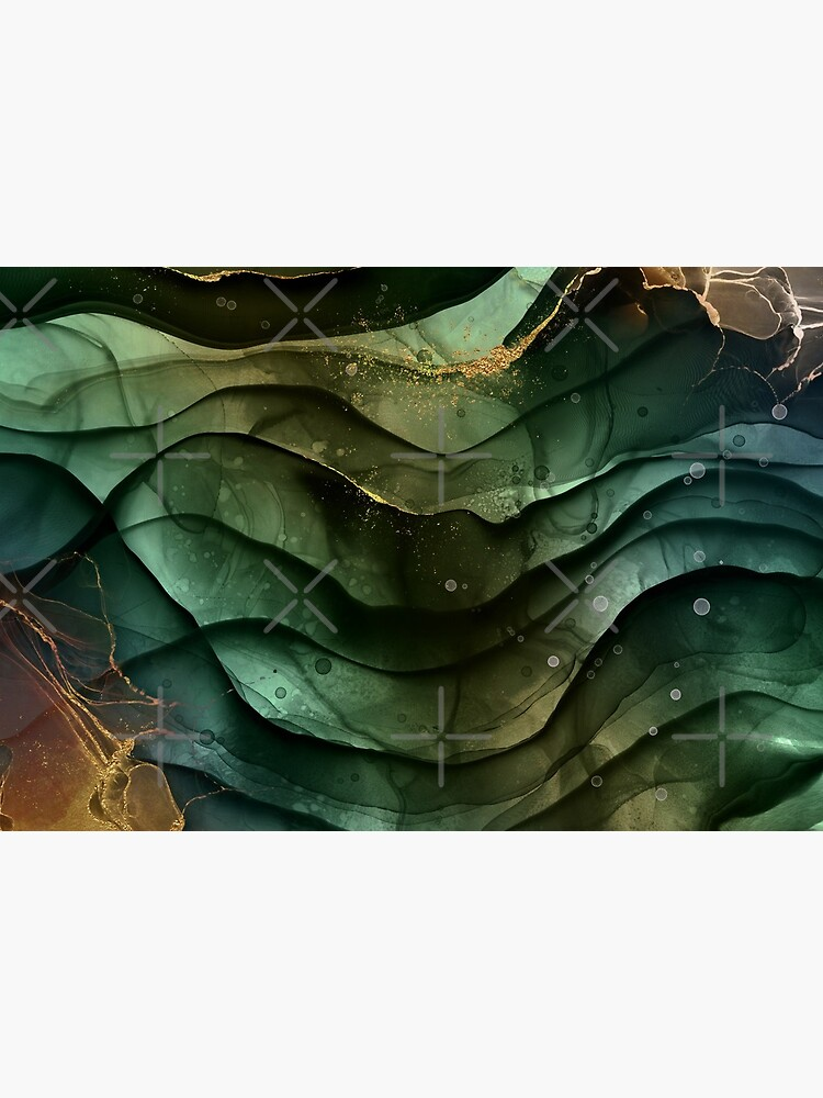 Malachite Fluid Marble Texture With Gold Veins V by MysticMarble