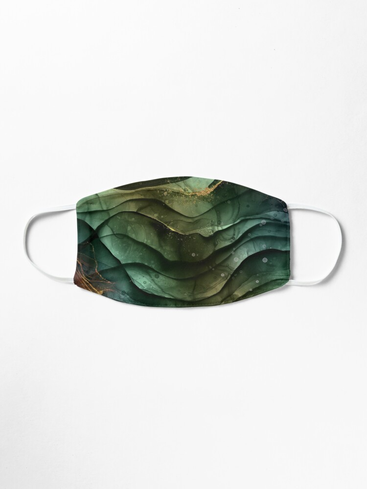 Alternate view of Malachite Fluid Marble Texture With Gold Veins V Mask