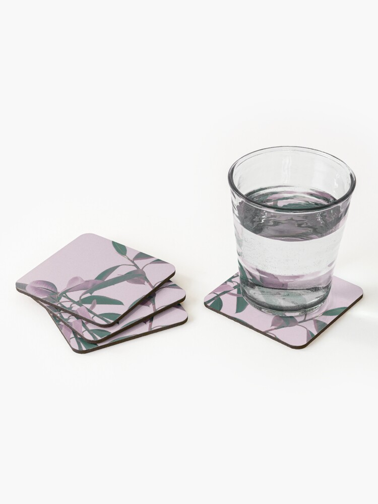 Alternate view of Purple summer leaves Coasters (Set of 4)