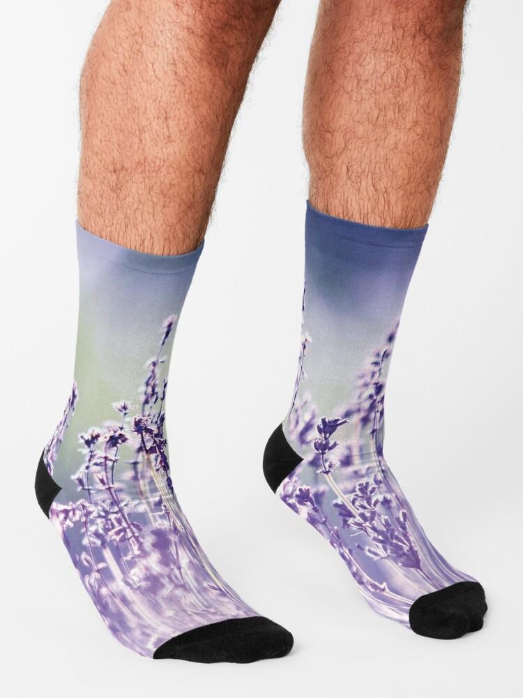 Alternate view of Purple summer field, lavender Socks