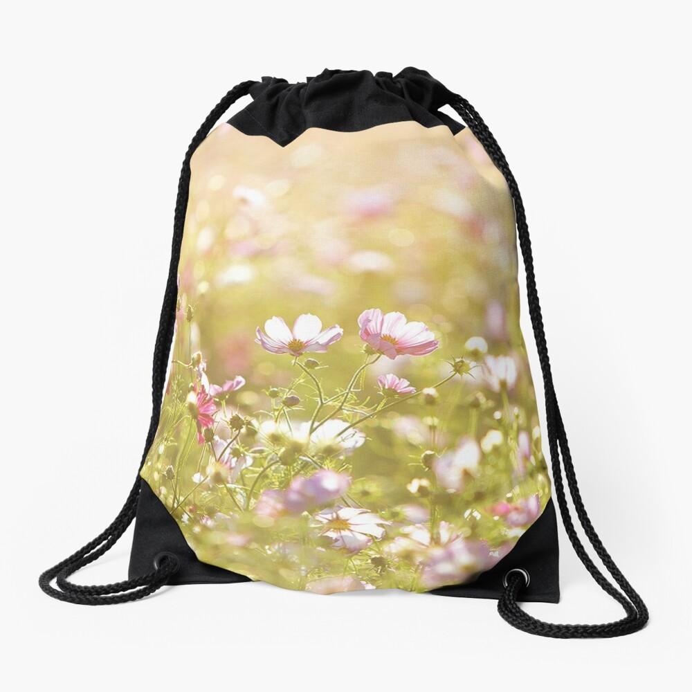 Fresh spring flowers Drawstring Bag