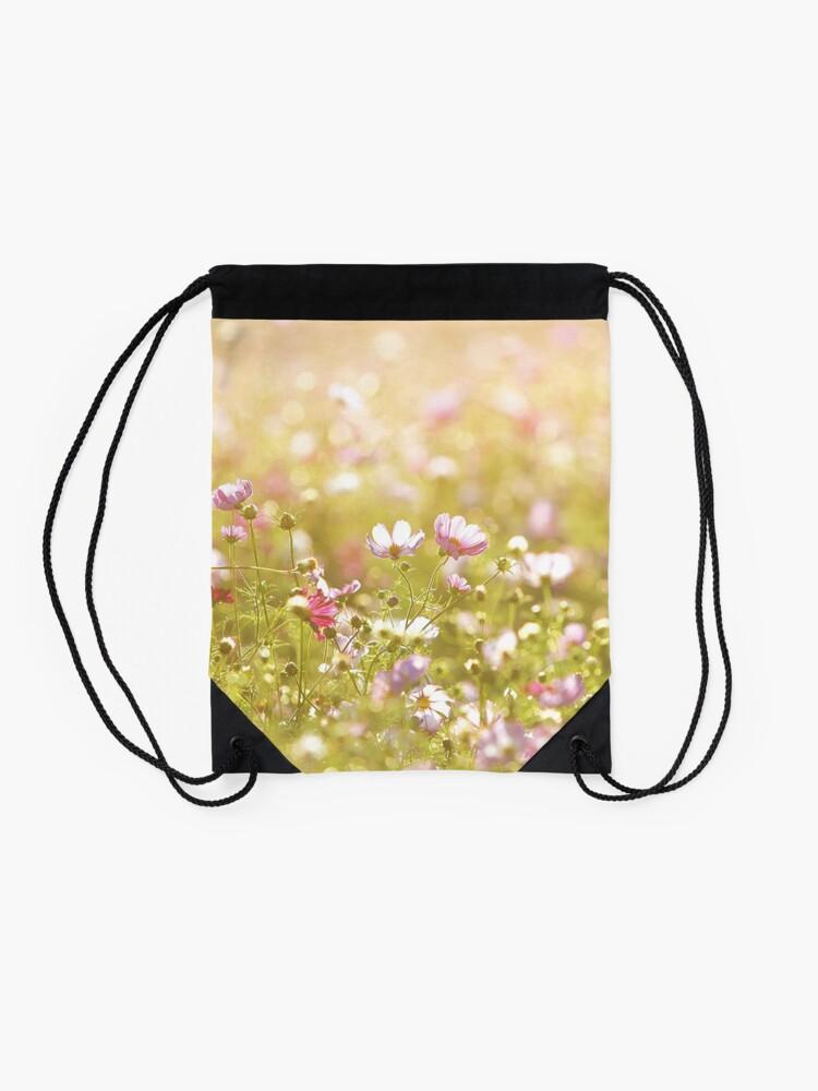Alternate view of Fresh spring flowers Drawstring Bag