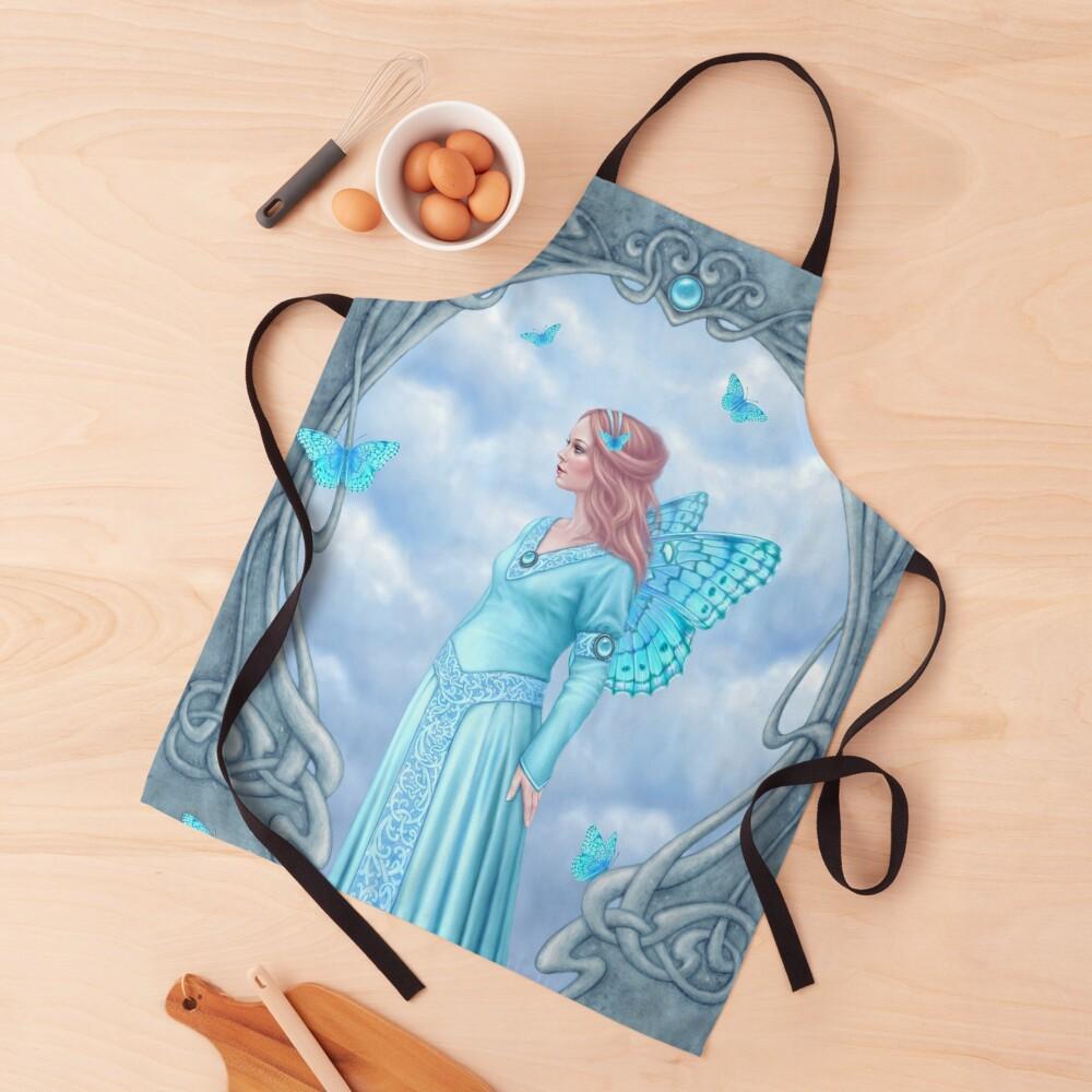Aquamarine Birthstone Fairy Apron