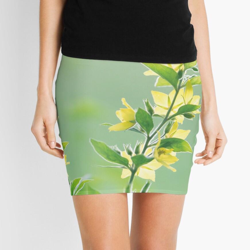 Fresh green botanicals Mini Skirt