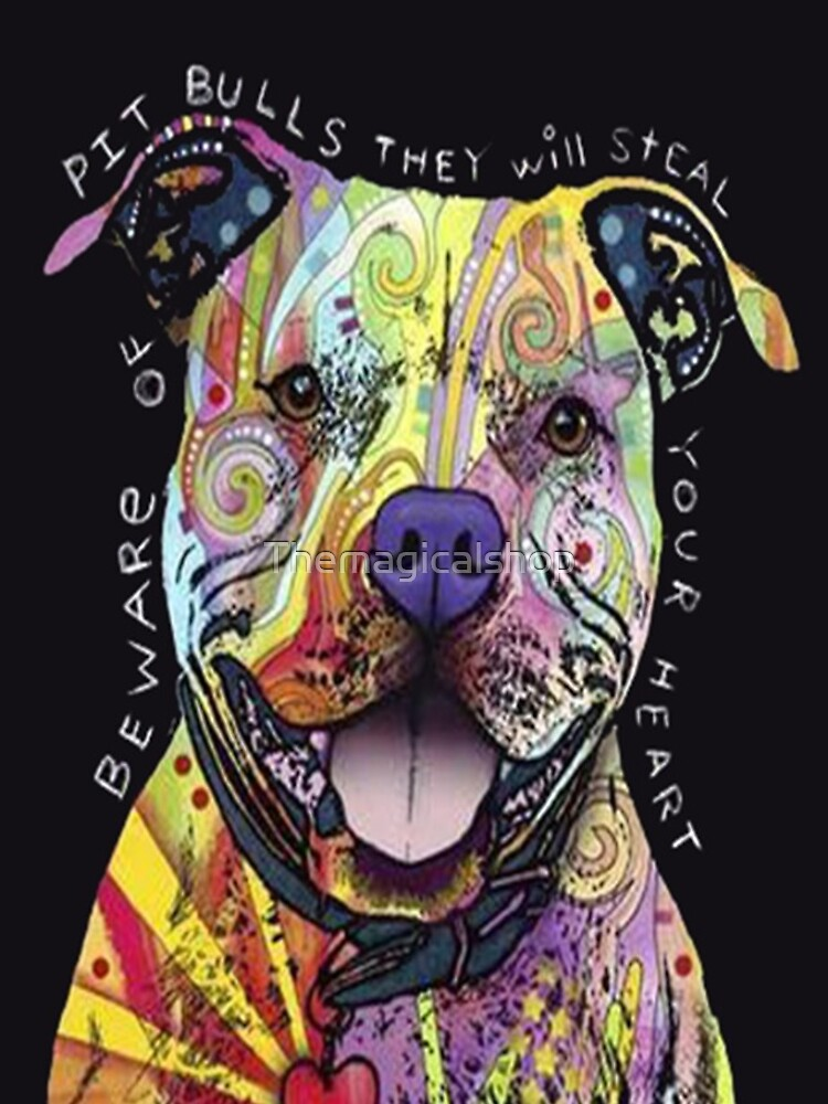 Colourful Pit Bulls/ pitbull lover by Themagicalshop