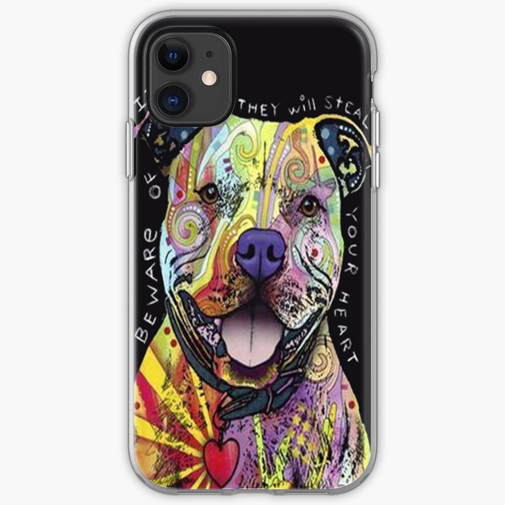 Colourful Pit Bulls/ pitbull lover iPhone Case & Cover
