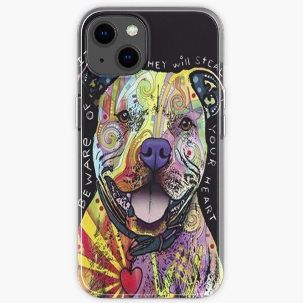 Colourful Pit Bulls/ pitbull lover iPhone Soft Case