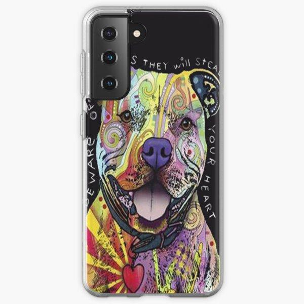 Colourful Pit Bulls/ pitbull lover Samsung Galaxy Soft Case