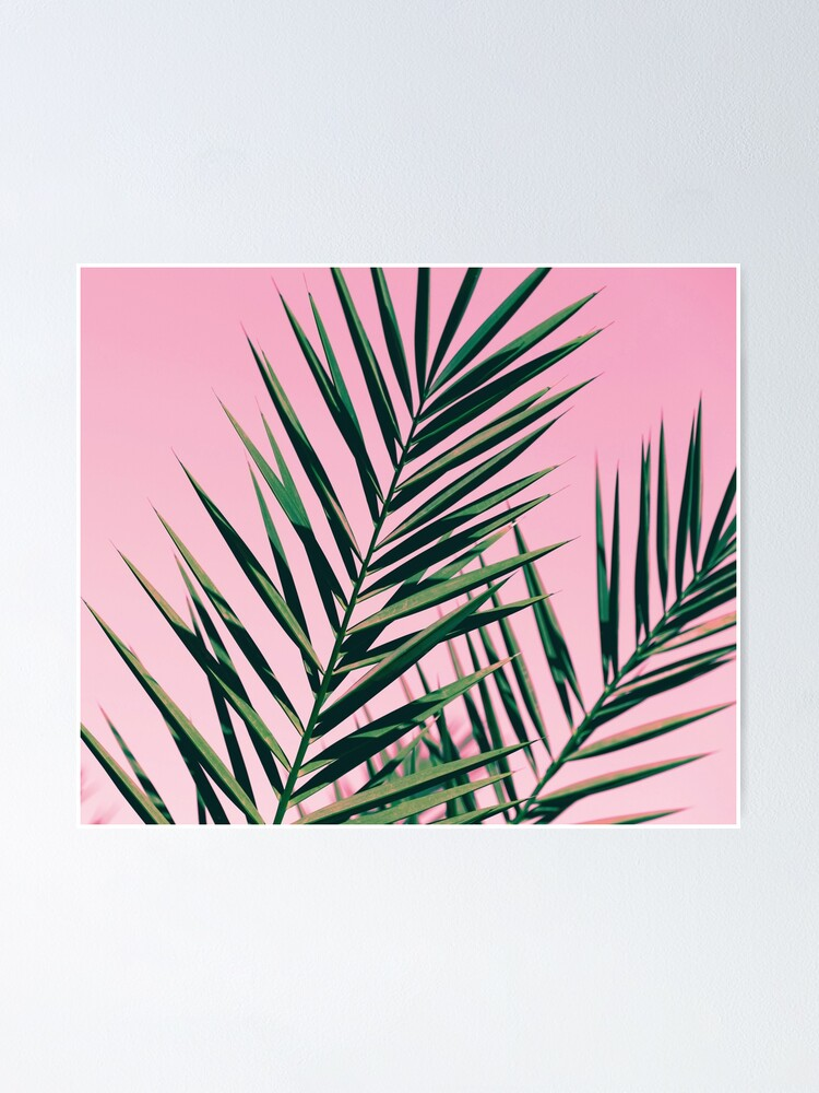 Alternate view of Graphic green botanicals Poster