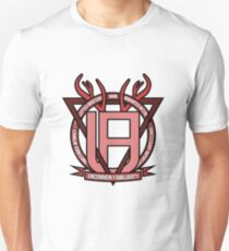Uncommon Familiarity - Red Geometric Stag Tee T-Shirt
