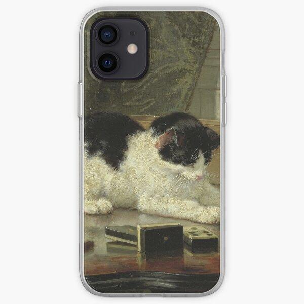 Henriette Ronner - Le chat en jeu Coque souple iPhone