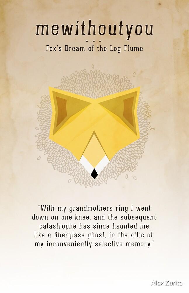 Fox's Dream Lyric Poster by Alex Zurita