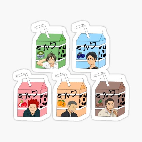 Haikyuu milks 3 Sticker