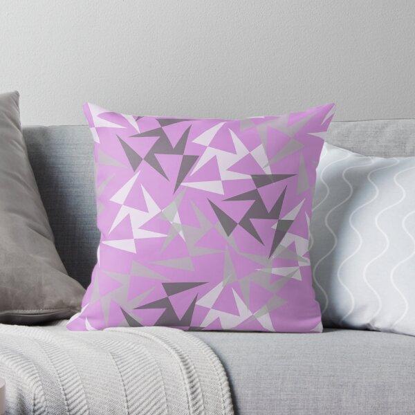 Geo Wheels - Lilac Throw Pillow
