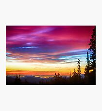 City Lights Sunrise View From Rollins Pass Photographic Print