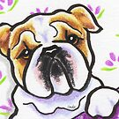 Bulldog and Rosettes by offleashart