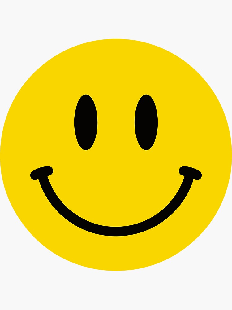 Smiley Face   - Cool Happy Motorcycle Or Funny Helmet Stickers And Bikers Gifts by Bikerstickers