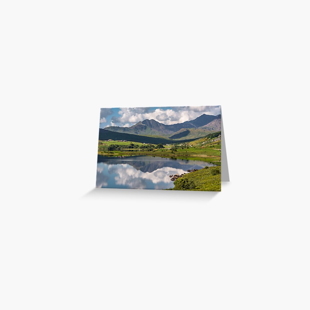 Snowdon Horseshoe Wales Greeting Card