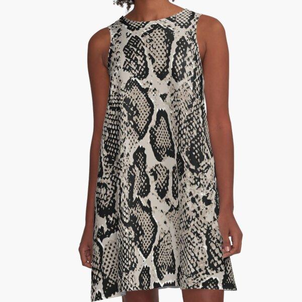 Python skin,Snake pattern A-Line Dress