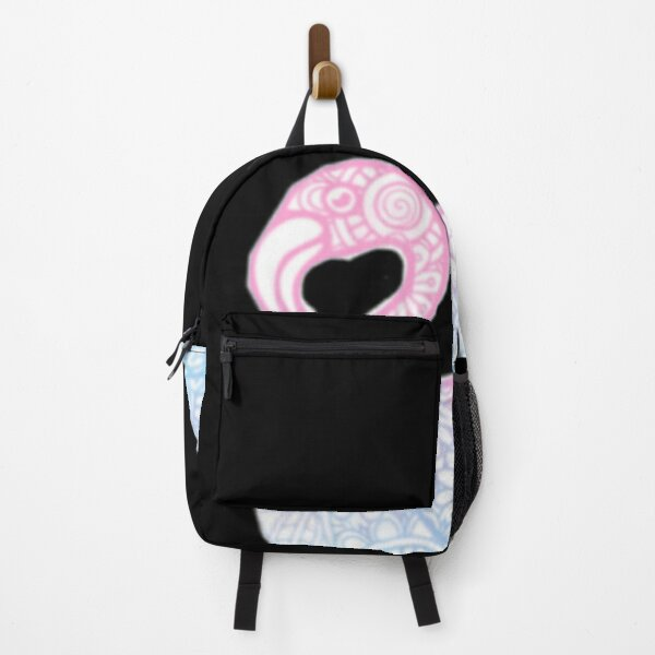 Zentangle inspired art|pink flamingo| Backpack