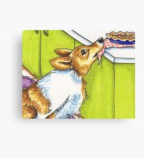 Corgi Apple Pie Theif Canvas Print