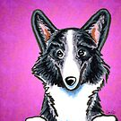 Corgi Blue Merle Purple by offleashart